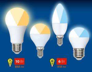 Svetodiodny`e lampy` Uniel seriia Multibright