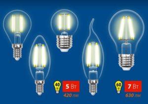 Svetodiodny`e lampy` Uniel seriia Multibright Filament